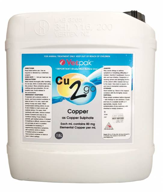 Copper 2 Go - Liquid Copper Sulphate