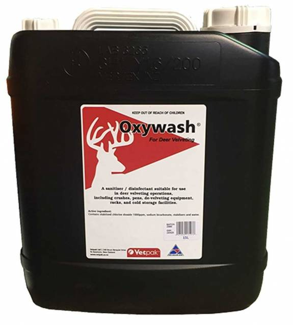 Oxywash for Deer Velvetting